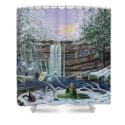 The Saving Of Guinevere Shower Curtain