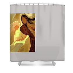 The Saviour Is Born Shower Curtain
