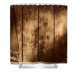 The Saw Shower Curtain by American West Legend By Olivier Le Queinec