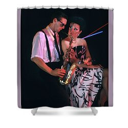 The Sax Man And The Girl Shower Curtain