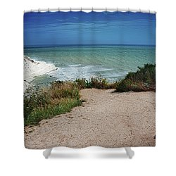 The Scala Dei Turchi Shower Curtain