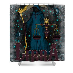 The Scale Libra Spirit Shower Curtain