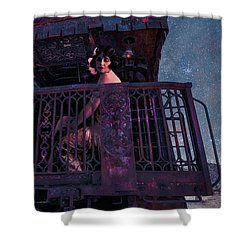 The Scarlet Lady Book Cover Shower Curtain