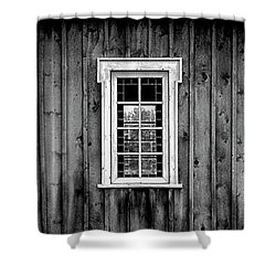 The School House Shower Curtain by Brad Allen Fine Art