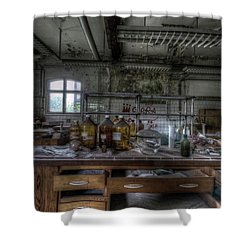 Shower Curtain featuring the digital art The Science  by Nathan Wright