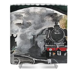 The Scotsman Shower Curtain by Carole Robins