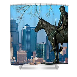 The Scout Statue Shower Curtain
