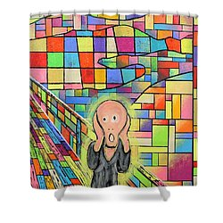 The Scream Jeremy Style Shower Curtain