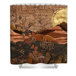 The Scream Of A Butterfly Shower Curtain by Stanza Widen