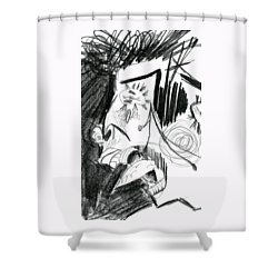 The Scream - Picasso Study Shower Curtain by Michelle Calkins