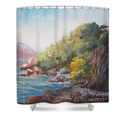 The Sea And Rocks Shower Curtain