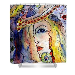 The Sea Becomes Her Shower Curtain by Robin Monroe