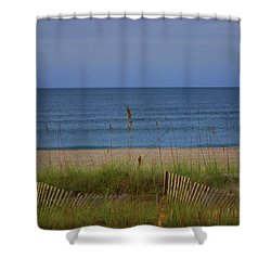 The Sea Shore Line Shower Curtain