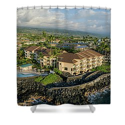 The Sea Village Shower Curtain
