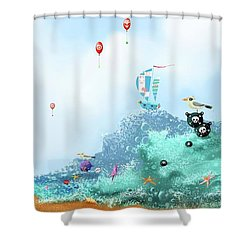 The Seagull's Cup..the Oldest Trophy In The Seafaring Calendar Shower Curtain