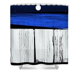 The Seawalls No.4 Full Moon Rising Shower Curtain