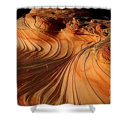 The Second Wave Shower Curtain by Keith Kapple