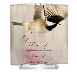 Shower Curtain featuring the photograph The Secret by Darren Fisher