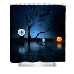 The Secret Of Orb Island Shower Curtain by Mark Andrew Thomas