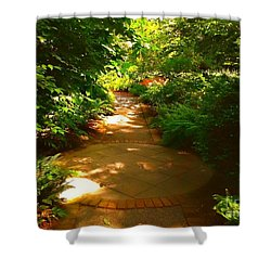 The Secret Path Shower Curtain by Becky Lupe
