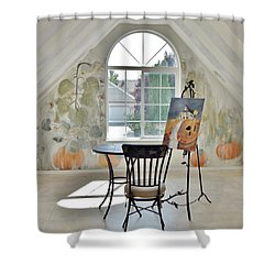The Secret Room Shower Curtain by Lisa Kaiser
