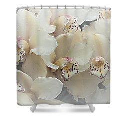 The Secret To Orchids Shower Curtain