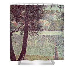The Seine At Courbevoie Shower Curtain by Georges Pierre Seurat