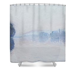 The Seine Near Vernon Shower Curtain by Claude Monet
