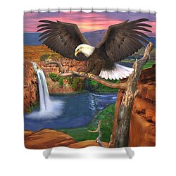 The Sentinal Shower Curtain
