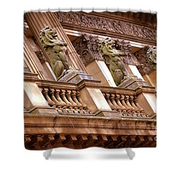 Shower Curtain featuring the photograph The Sentinels by Baggieoldboy