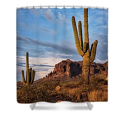 Shower Curtain featuring the photograph The Sentinels Of The Supes In Color  by Saija Lehtonen