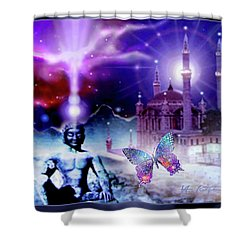 The Serenity Of Wisdom... Shower Curtain