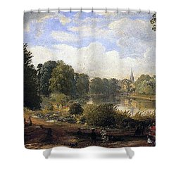 The Serpentine Shower Curtain by Jasper Francis Cropsey