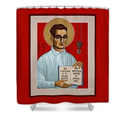 Shower Curtain featuring the painting The Servant Of God Egide Van Broeckhoven Sj 051 by William Hart McNichols