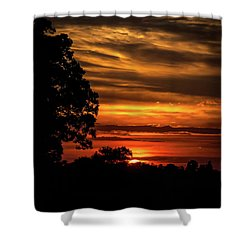Shower Curtain featuring the photograph The Setting Sun by Mark Dodd