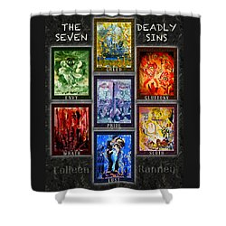 The Seven Deadly Sins Shower Curtain