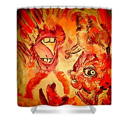 The Seven Sins Gluttony Shower Curtain