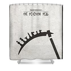 Shower Curtain featuring the digital art The Seventh Seal Aka Det Sjunde Inseglet by Ayse Deniz
