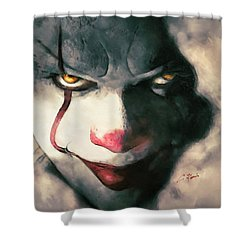 The Sewer Clown Shower Curtain