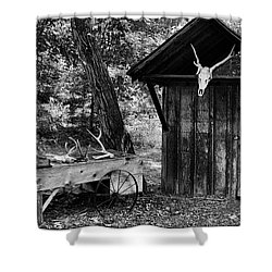 The Shack Shower Curtain by Wade Courtney