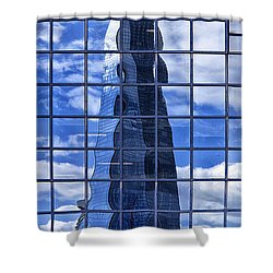 The Shard Shower Curtain by Shirley Mitchell