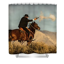 The Sharp Shooter Western Art By Kaylyn Franks Shower Curtain