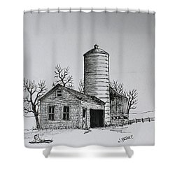 The Shed Shower Curtain by Jack G  Brauer