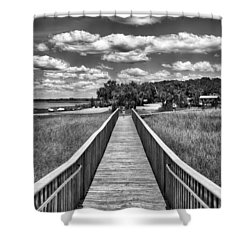 Shower Curtain featuring the photograph The Shell Mound by Howard Salmon