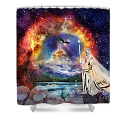 The Shelter Of Gods Love Shower Curtain by Dolores Develde