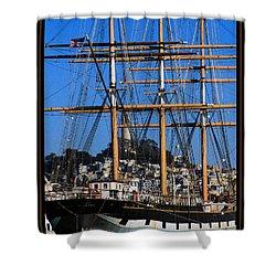 The Ship Balclutha Shower Curtain
