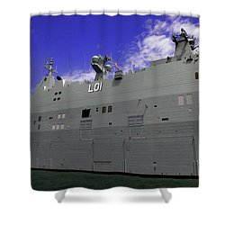 The Ship Is Huge Shower Curtain