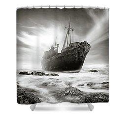 The Shipwreck Shower Curtain