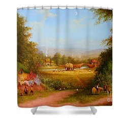 The Shire. Shower Curtain by Joe  Gilronan