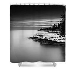 The Shore Shower Curtain by Mark Goodman